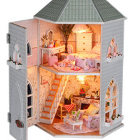 Wholesale Doll House Miniature Handmade Diy Assembling Model Building Kits Luxurious Dollhouse Birthday Gift Love Forts Specification