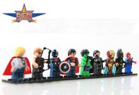 Wholesale Super Heroes Building Blocks Toys The Avengers Diefferent Heroe cm High ABS Minifigure Block Toy Set For Children