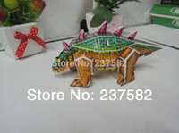 Wholesale education toys D FOAM PUZZLE DIY d dinosaur games cardboard models styles dinosaur jigsaw puzzle for the children