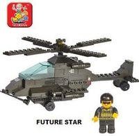apache block - Freeshipping SLuban Building Block Apache helicopter D Jigsaw Puzzle Education assembling toys for kids158pcs