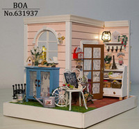 Wholesale New Arrive Diy Doll House Miniature Handmade Assembled Model Building Kit Birthday Gifts Wooden Dollhouse Toy Gindy s Happy