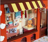 Wholesale DIY dollhouse Pet Paradise Mini European shops pet shop D wooden model house building kits creative gifts
