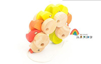 Wholesale will squirmy caterpillar children drag wooden toys baby toys drag the caterpillar vehicles carpenterworm car