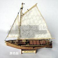 Wholesale Classic wooden sailing boat assembled set of material the Mini quot FLATTIE quot sail boat model Aficionados
