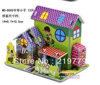 Wholesale pieces DIY Handmade D Pape Model Pricess Castle House Building Kits D Paper Puzzle Gift for Children Educational Toys