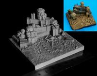 Wholesale Modern Battlefield Base Miniature Resin Model Assembly Model Second World War Model WWII WW2