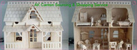 Wholesale Educational D Model Building DIY Wooden House Toy With Gallery amp FurnituresMiniature Doll House For Kids