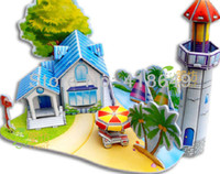 Wholesale Cute DIY Handmade Dream House D Dollhouse House Model hands on brain puzzle GOOD GIFTS