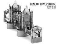 Wholesale London Tower Bridge DIY D Model Metal Puzzle Metal Simulation Model Educational Toys Metallic Nano Puzzle