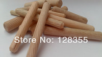 Wholesale M10X50MM grooved fluted wooden dowel pin Wooden Dowel Sticks DIY Hobby Craft furniture screws bolts