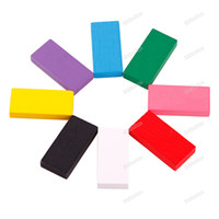 Wholesale New dollarone Many Colors Authentic Standard Wooden Kids Children Domino Game Toys Save up to Professional