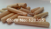 Wholesale X40MM grooved fluted wooden dowel pin Wooden Dowel Sticks DIY Hobby Craft furniture screws bolts