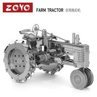 Wholesale Farm Tractor DIY D Metal Model Metal Works Educational Toys Metallic Nano Puzzle