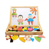 Wholesale Brand New Wood Magnetic Puzzle Child Educational Toys Children Educational Wooden Toys Super Gift set