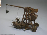 Wholesale Classic wooden ancient chariots assembled of material The Medieval Trebuchet Chariot Model set