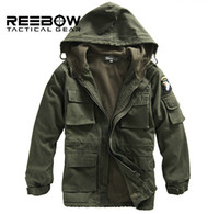 air force hoods - Mens Winter Military Cotton Jacket US Army AIR FORCE Thermal Trench with Hood Outdoor Wadded Jacket Fleece Lining Military Coat