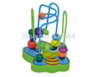 Wholesale New Children Kids Educational Bee Shape Wooden Toy Animal Around Beads Colorful Creative Toy