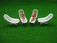 Wholesale Sun Lounger Wholesale - Wholesale-YZ4801 Model Railway Layout 1:48 Sun Loungers Beach Chairs O Scale NEW
