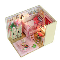 Wholesale Hot Sale DIY Doll House With Furniture Miniature Handmade Wooden Dollhouse Model Building Kits Greative Birthday Gift