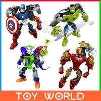 Wholesale Superhero DIY Building Blocks Bricks The Avengers Action Figure Minifigures Super Hero Iron Man Captain America Educational Toys