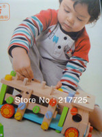 Wholesale Building blocks removable screw car wooden toy disassembly multifunctional child Toy