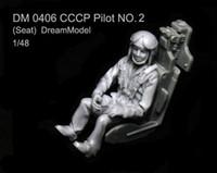 Wholesale Dreammodel CCCP Soviet Russia Air Force Pilot Figure sit Resin
