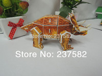 Wholesale classic toys D JIGSAW PUZZLE DIY dinosaur cardboard model d dinosaur games puzzle for the children