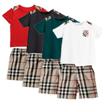 Wholesale Retail New Summer Style Children Boys Girls Clothing set T shirt pant set baby kids clothes family clothing cotton