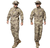 army uniform fabric - tactical military airsoft army camouflage combat uniform multicam camo ACU type fabric ripstop COAT PANTS