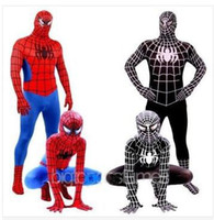 Wholesale Red Evil Black Spiderman Cosplay Unitard Carnival Costume Onesies For Ddults And Boys Kids Superhero Halloween Party Costumes Hero Role Play