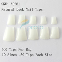 acrylic duck nails - Natural Duck Nail Tips Wide False Nail Tips Acrylic Nail Dropshipping retail SKU A0033