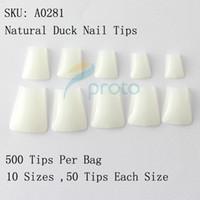 Wholesale Natural Duck Nail Tips Wide False Nail Tips Acrylic Nail Dropshipping retail SKU A0033