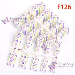 Wholesale elegantes diseñados acrílicos clavo falso falso uñas F126 Orden mínima el poste de China vía correo aéreo registrado