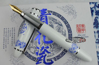 White Highlighters  Classic Fountain Pens China Blue and white porcelain Craft Gift Pen with Hard Cover Box 10pcs Free