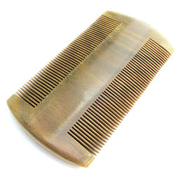 Wholesale Natural Green Sandalwood Handmade Super Narrow Tooth Wood Combs no static comb Pocket comb beard Toothed Lice Comb Hair Care
