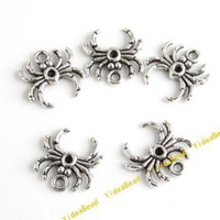 beaded spider - 100x Spider Pandent Tibet Silver Charms Pendant Fit Necklace Accessories Jewelry FindingsDIY