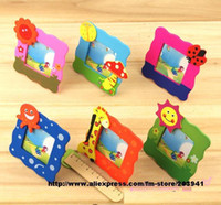 Cheap Wholesale-free shiping!! Wholease 24 piese lot Mini Cartoon Wood picture photo frame,Student's kids Children keepsake souvenirs-6styles