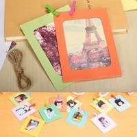 album display - inch DIY Paper Photo Frame Album Display Photograph Hanging Clip Rope Set