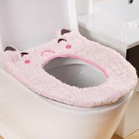 animal antibiotic - Fashion and lovely Thickening plush cartoon animal toilet mat winter toilet set antibiotic Toilet Seat Cover