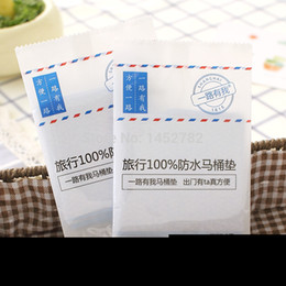 Wholesale Disposable Paper Toilet Seat Covers Camping Festival Travel Loo Bathroom Set Accessories