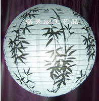 Wholesale Bamboo reported safety black round cm paper lanterns hanging lamp shade home study lamp