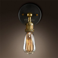 art deco lamps for sale - Hot sale American country Loft style edison vintage industry light for Cafe stair bathroom kitchen bedroom decorative wall lamp
