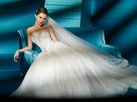 Reference Images Portrait Organza Sweetheart neckline Strapless Beading Organza Bridal Wedding Dress Demetrios 2828 J07