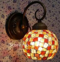 antique european mirrors - Special minimalist Ma Qian grams European corridor wall lamp antique glass lighting wrought iron mirror with