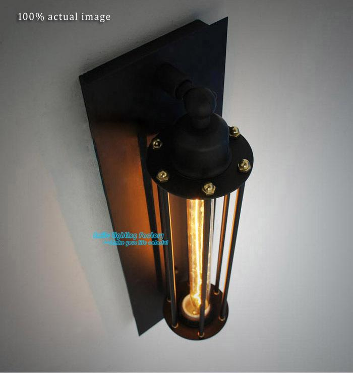 Industrial Looking Wall Sconces : 2017 Wholesale Classical Nostalgic Industrial Style Wall Lights Vintage Art Wall Sconce Stair ...
