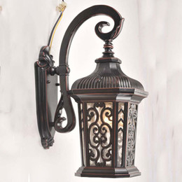 Wholesale Vintage chinese style wall lamp antique outdoor indoor the door balcony wall lights wd