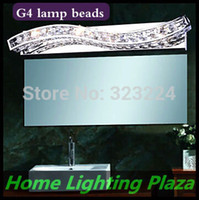 bathroom mirror and cabinet - bathroom mirror cabinet light simple and modern luxury crystal mirror front lamps crystal wall lamp G4 lamp beads