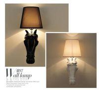 art design lampe - New Design horse Wall Lamps Bedroom Headboard Bedside Lamp banheiro LED Living Room Light Wall Sconce lampe deco