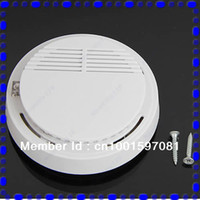 Cheap Wholesale-B39Hot Sell New Photoelectric Home Security System Cordless Smoke Detector Fire Sensor Alarm White Free Shipping