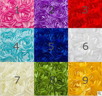Wholesale White Satin Rosette Fabric Bridal Wedding Backdrop Baby Photography Backdrop D Rose Fabric Blanket